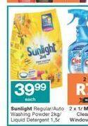 Sunlight Washing Powder offer at R 39,99