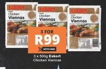 Eskort Chicken Viennas 3 offer at R 99