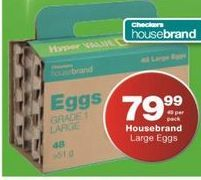 House brand Eggs offers at R 79,99