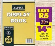Alpha A4 Display File offers at R 14,99