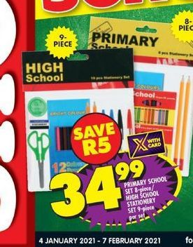 Primary School Set offers at R 34,99