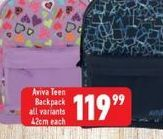 Backpack offers at R 119,99