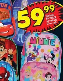 Backpack offers at R 59,99