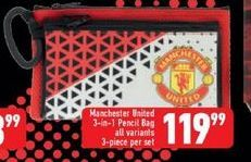 Manchester United Pencil Bag offers at R 119,99