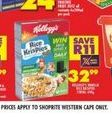 Kellogg's Cereals offer at R 32,99