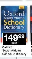 Oxford South African School Dictionary offer at R 149,99