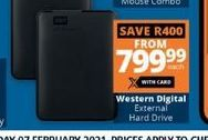 WD External Hard Drive  offer at R 799,99