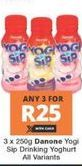 Danone Yogi Sip 3 offer at R 25