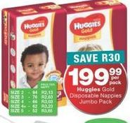Huggies Disposable Nappies offer at R 199,99