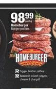 Homeburger Burger Patties offer at R 98,99