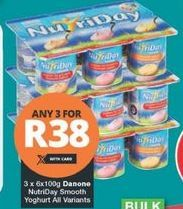 NutriDay Smooth Yoghurt 3 offer at R 38