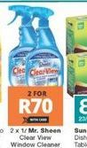 Mr. Sheen Window Cleaner 2 offer at R 70