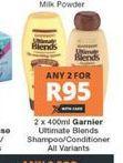 Garnier Shampoo 2 offer at R 95