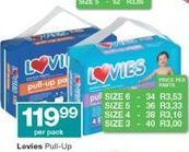 Lovies Disposable Nappies offer at R 119,99