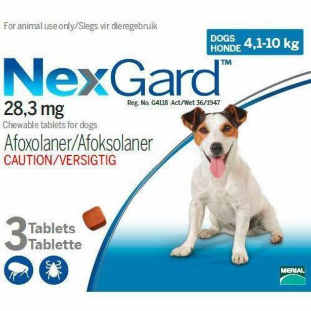 NexGard Chewables Tick & Flea Control for Medium Dogs - 3 Tablets offer at R 245