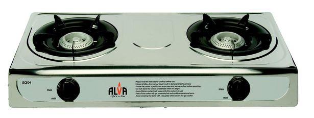 Alva - Stainless Steel Gas Stove - 2 Burner   offer at R 379