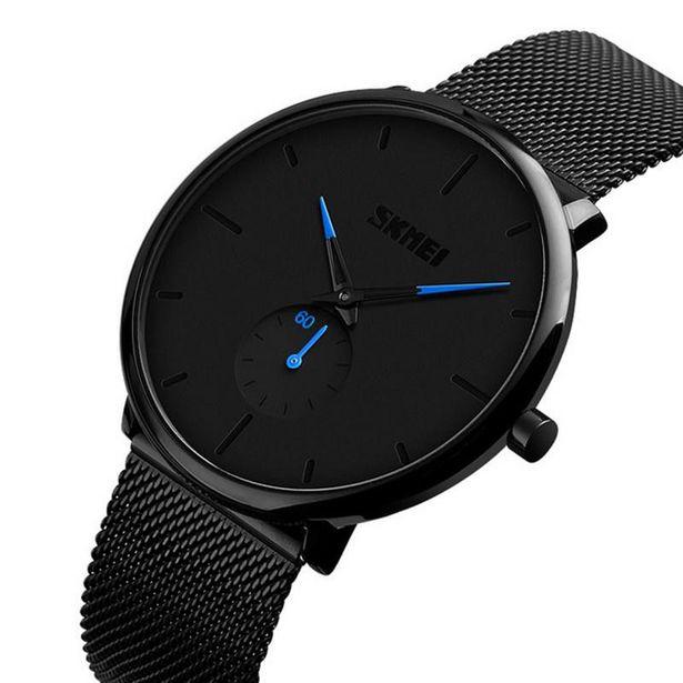 Mens Ultra Thin Classic Mesh Steel Quartz Watch - Space Black offer at R 599