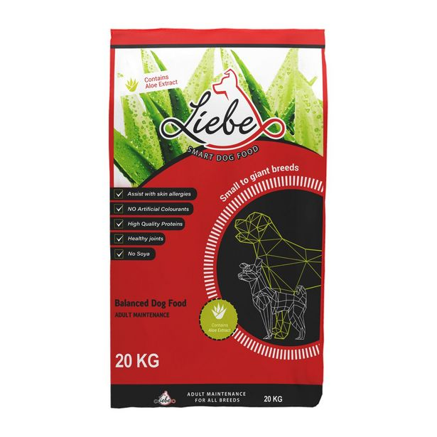 Liebe Smart Dog Food with Aloe Adult - 20kg Bag offers at R 419