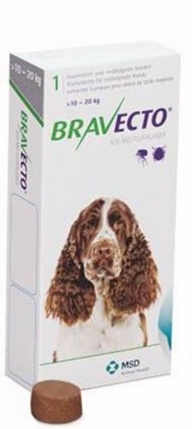 Bravecto Chewy Tablet for Medium Dog- (>10-20Kg) offer at R 306