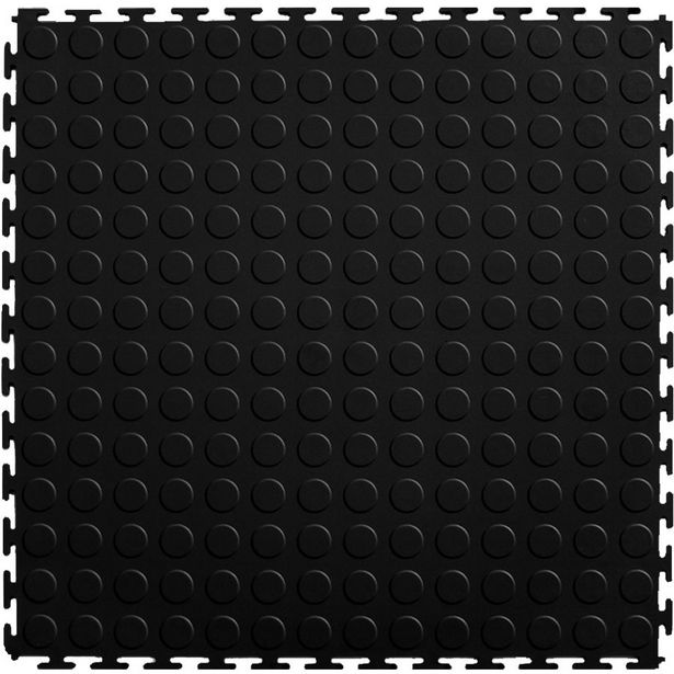 ZEE - PVC Interlocking Rubber Floor Tile - Gym Mats (4-Pack) - Black offer at R 155