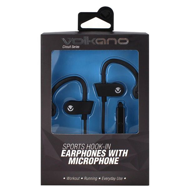 Volkano Circuit Series Sports Hook-In Earphones With Mic offer at R 69