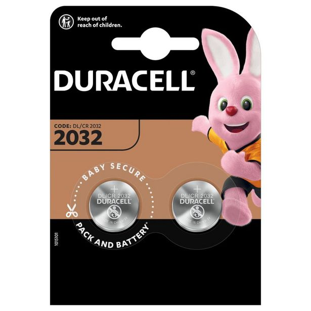 Duracell 2032 Speciality 3V Lithium Coin Batteries - 2 Pack offer at R 35