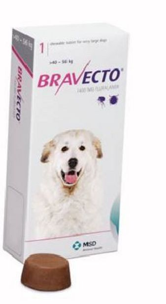 Bravecto Chewy Tablet for X-Large Dog - (>40-56Kg) offer at R 516