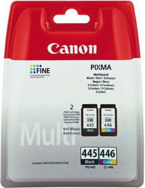 Canon PG-445 & CL-446 Ink Cartridges Multipack offer at R 539