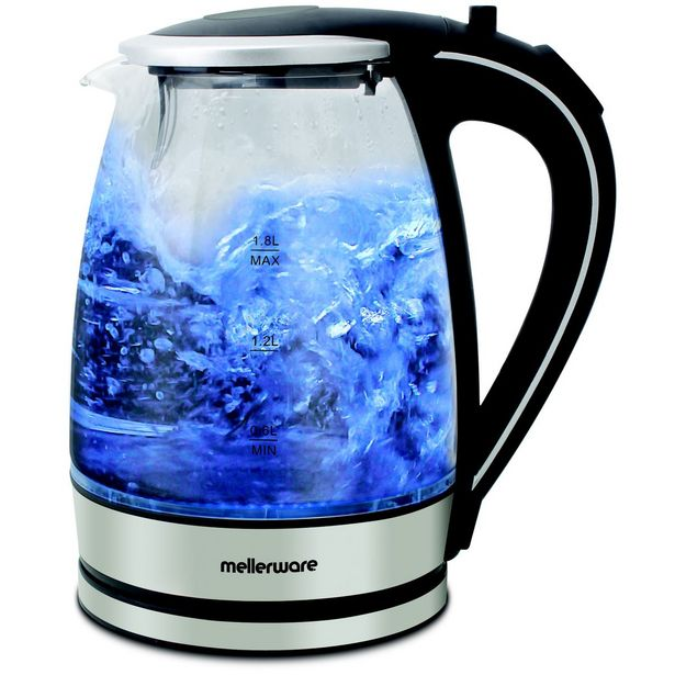 "Mellerware Kettle 360 Degree Cordless Glass Silver 1.8L 2200W ""Azure"" offer at R 299"