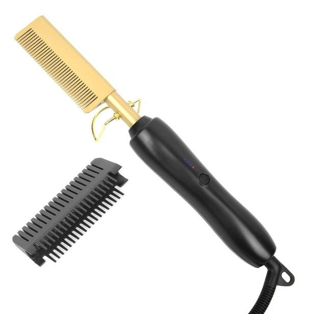 Electric Hair Hot Comb for Women and Men - 2 in 1 Straightener/Curling iron offers at R 178
