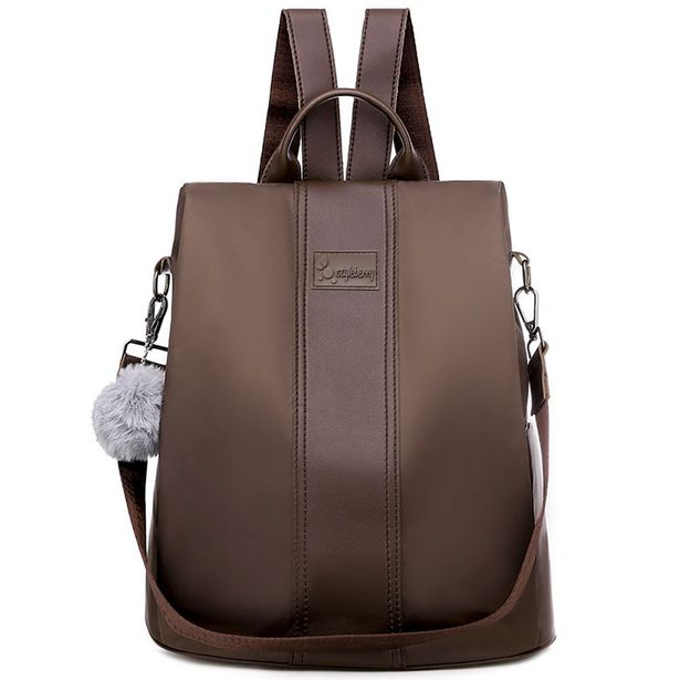 Styleberry Water Resistant Anti-theft Leather Laptop Backpack offer at R 399