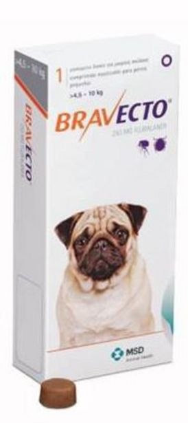 Bravecto Chewy Tablet for Small Dog - (>4.5-10Kg) offer at R 252