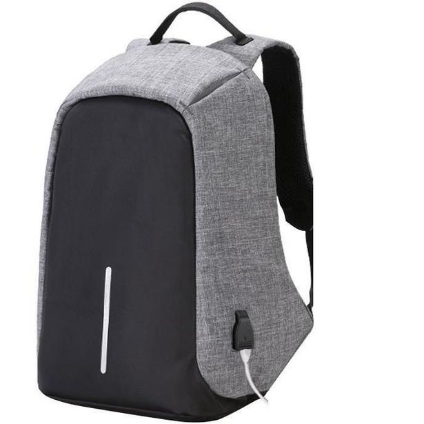 Anti-Theft Waterproof Travel Laptop Backpack - Grey offer at R 214
