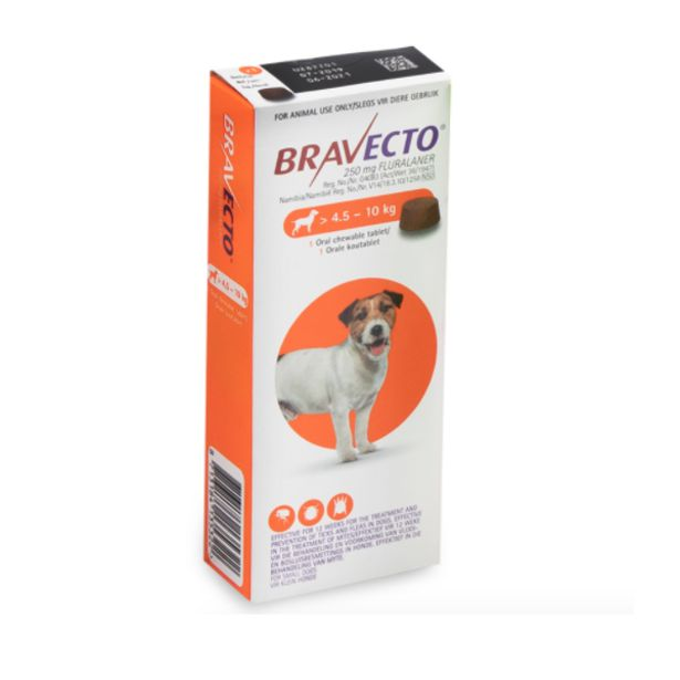 Bravecto Chewy Tablet for Small Dog - (>4.5-10Kg) offer at R 270