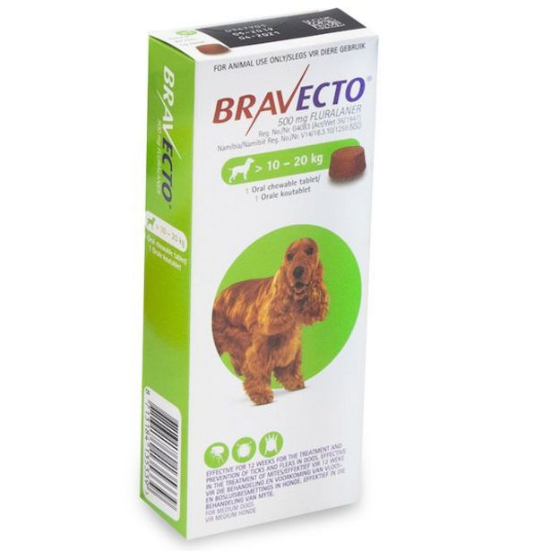 Bravecto Chewy Tablet for Medium Dog- (>10-20Kg) offer at R 320