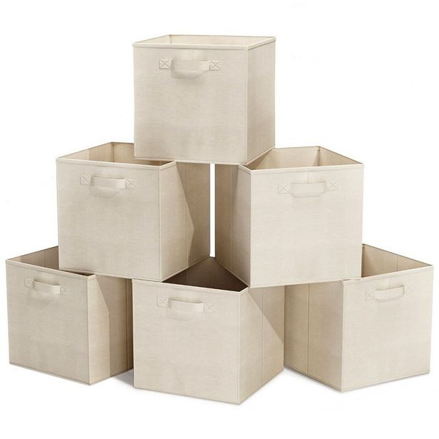 Storage Boxes Foldable Storage Bins - Pack of 6 offer at R 369
