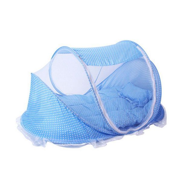 Folding Children Mosquito Nets Baby Bed - Blue offer at R 183
