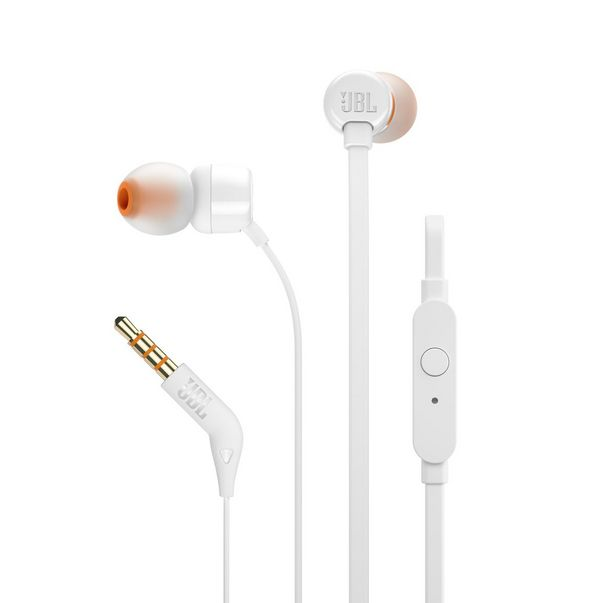 JBL T110 In Ear Headphone - White offers at R 175