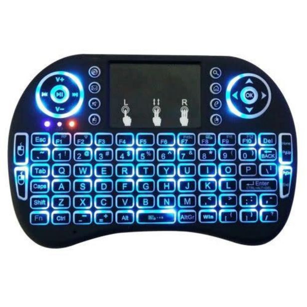 Mini 2.4GHz Backlit Wireless Keyboard Touchpad for PC TV Box Android offer at R 96