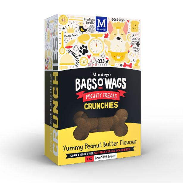 Montego - Bags O' Wags Peanut Butter Crunchies 1kg offer at R 65