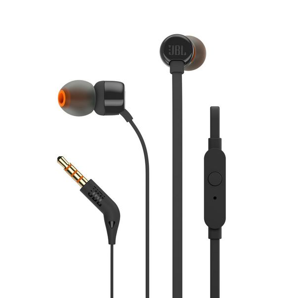 JBL T110 In Ear Headphone - Black offer at R 175