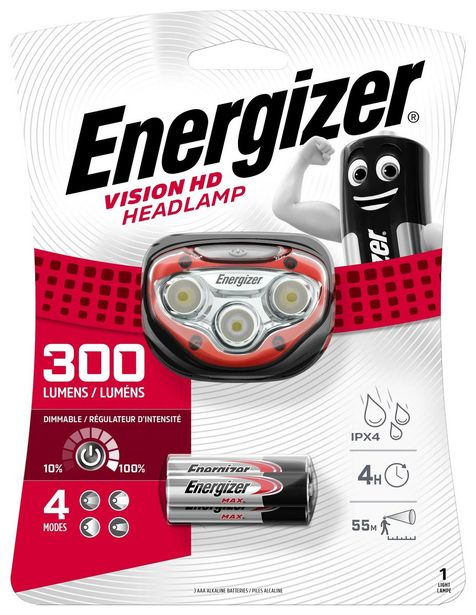 Energizer Vision HD Headlight (300 lumens) incl. 3x AAA offer at R 229