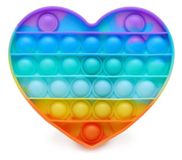 Rainbow Heart Shaped Pop It Fidget Toy offers at R 60