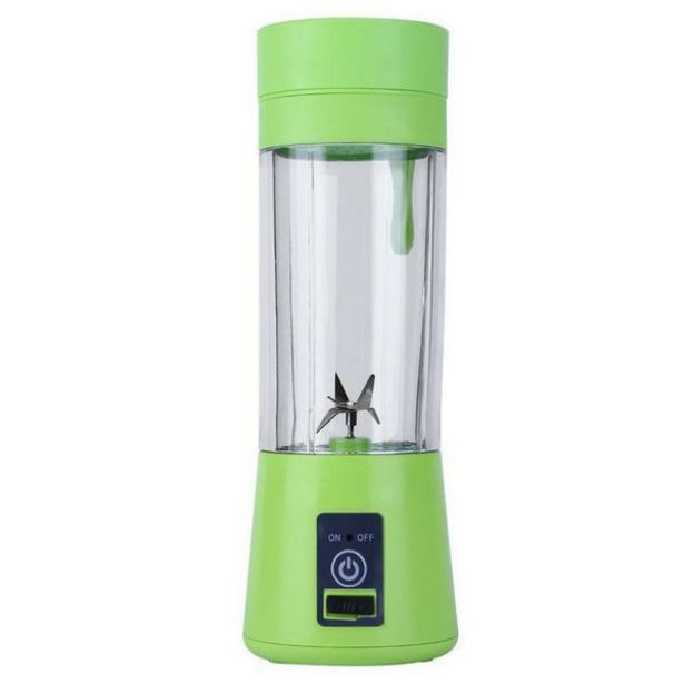 Portable And Rechargeable Smoothie Blender (6 Blades) - Green offer at R 249