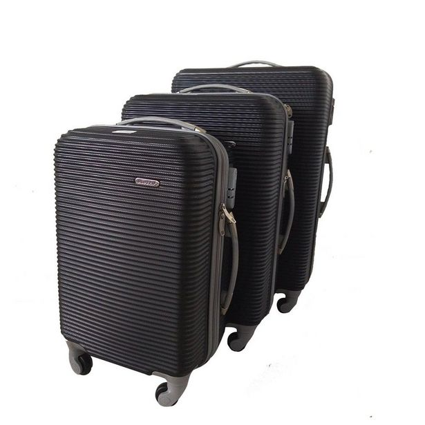 3 Piece Hard Outer Shell Luggage Set - Blue offers at R 1246