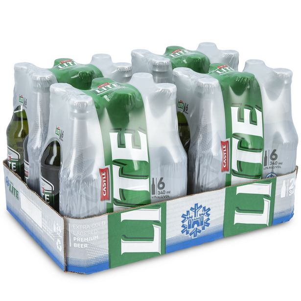 Castle Lite Beer 24 x 340ml offers at R 240