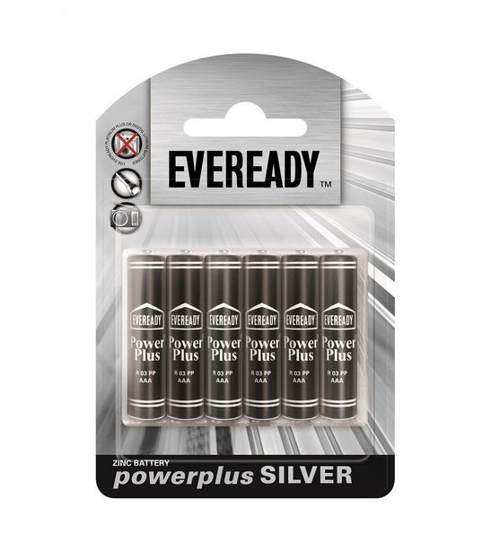 Eveready AAA Power Plus Batteries - Black & Silver offer at R 29