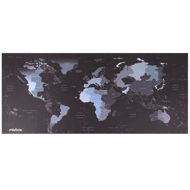 Mix Box Large XL Size Anti-Slip World Map Speed Game Mouse Pad Gaming Mat for Laptop PC offer at R 129