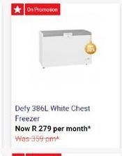 Defy Chest Freezer offer at