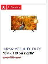 "Hisense 49"" Smart Full HD LED TV offers at"